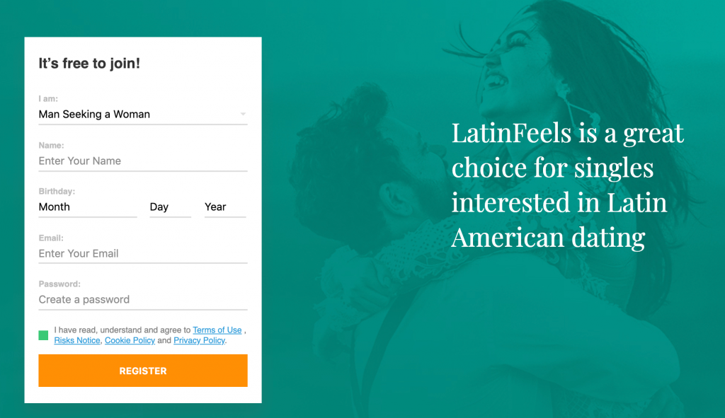 LatinFeels Registration