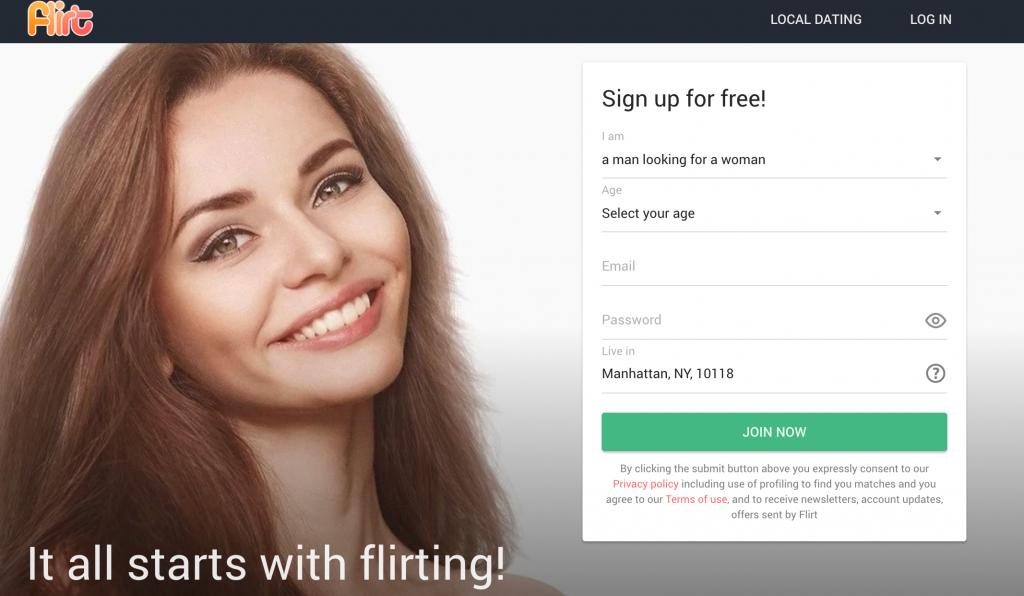 Flirt.com Registration
